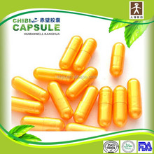 gelatin pill or powder filling packing capsules color gold hard