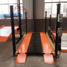 4 post 2 layer vertical mechanical elevated car parking lift / Auto Car Parking Systems / Garage Car Storage Lift