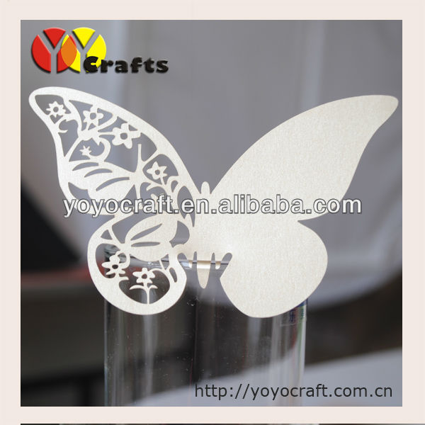 New arrival!wedding favor laser cut butterfly place card in various colors with fast shipment wedding place card holders