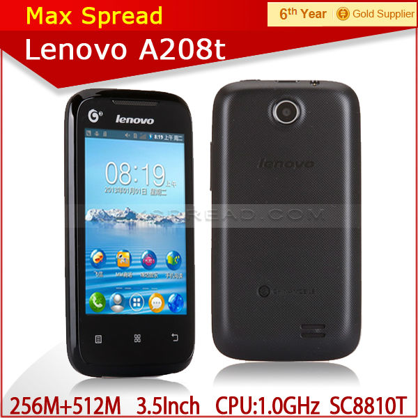 Lenovo A208T 100% New Original GSM+TD-SCDMA 3G 3.5 inch Android 2.3 cheap smart phone lenovo a208t cell phone