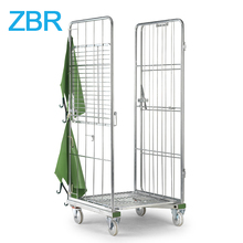 Electric Coloring Zinc Hotel 4 Side Wire Mesh Roll Container