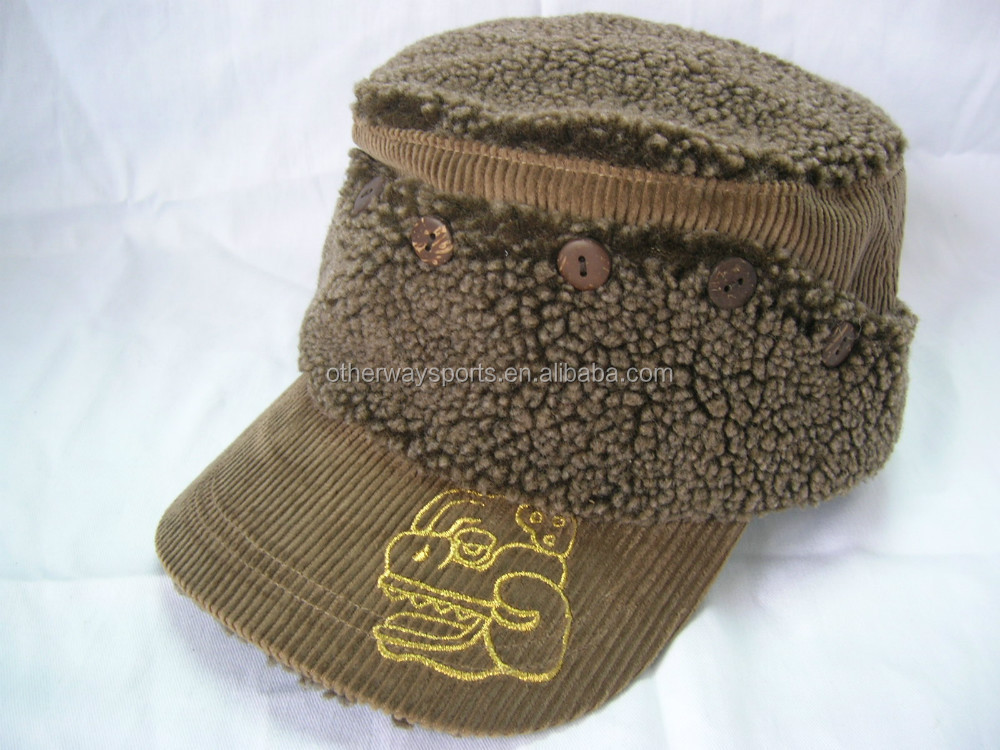 Winter military caps with ear flap