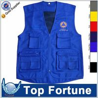 Customized Wholesale school polyester uniform vest