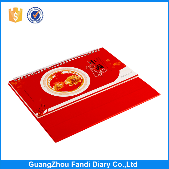 Wholesale custom 2017 cheap chinese calendar printing