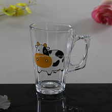 lovely cow transparent beer tap mug handle glass colored glassware