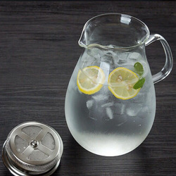 Heat resistant pyrex glass tea cold kettle