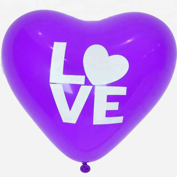 China factory hot sale 10,12inch latex heart shape balloon for party decoration