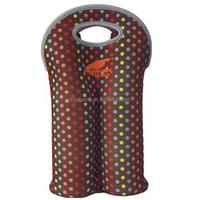 Promotional fashionable insulated portable neoprene 2 pack bottle/wine/beer cooler/ holder