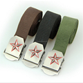CAV7 customized logo canvas waist belt with zinc alloy buckle