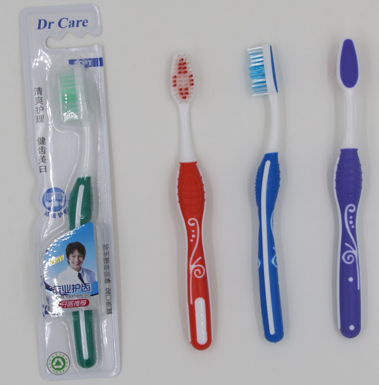 soft rubber sell well rubber bristle toothbrush