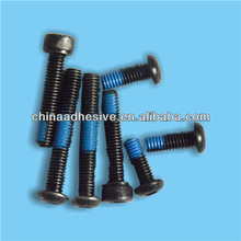 Self locking blue patch for threaded fasteners