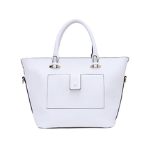High Quality Leather Women Systyle Handbags Made In China, Make Your Own White Tote Hand Bag With Custom Printed Logo