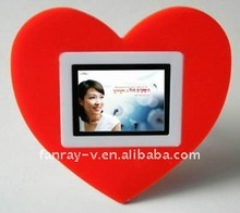 Fast Delivery! Fashionable 2.4 inch heart shape LCD digital photo viewer gift