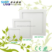 Commercial use Manufacturer price Surfaced Mounted 3W 6W 9W 18W 24W SMD2835 China LED Panel Light with CE ROHS