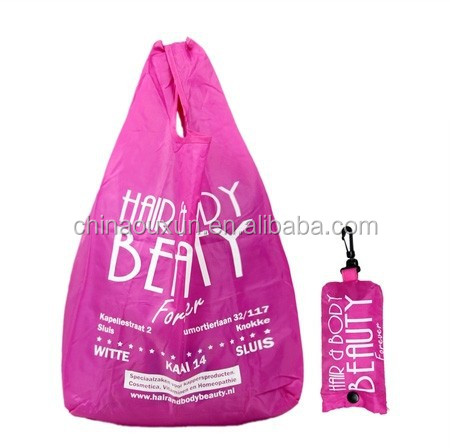 Most fashion folding shopping bag polyester 190t