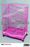 Novel design wire folding cat cage, easy clean cat cage for sale