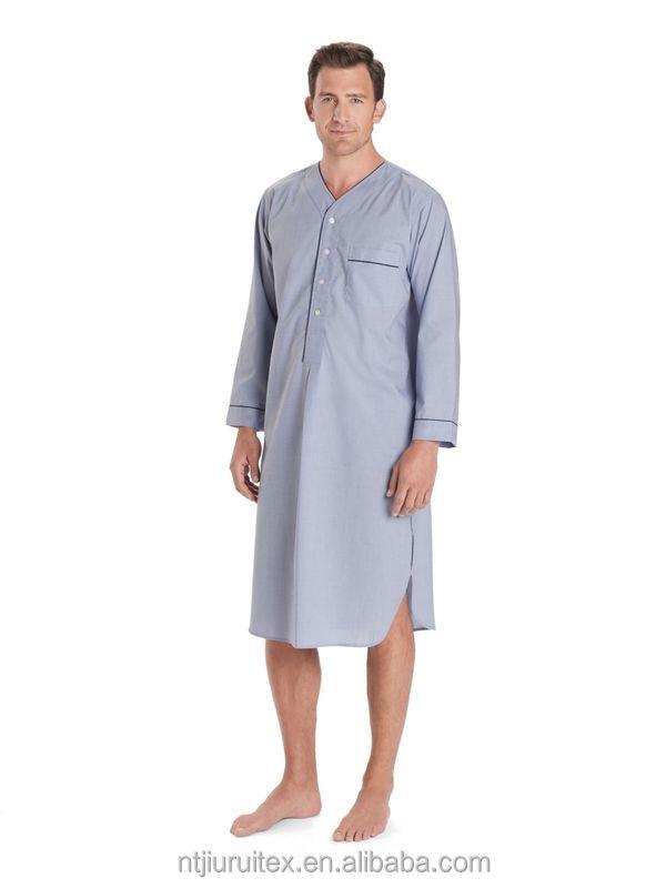 100% Cotton Men Nightshirt,Plain Dyed Mens Nightshirts - Buy 100 ...