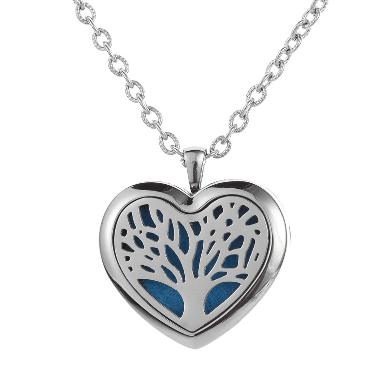 Heart Love Design Aroma Locket Stainless Steel Openwork Diffuser Necklace for Best Mother's Day Gift