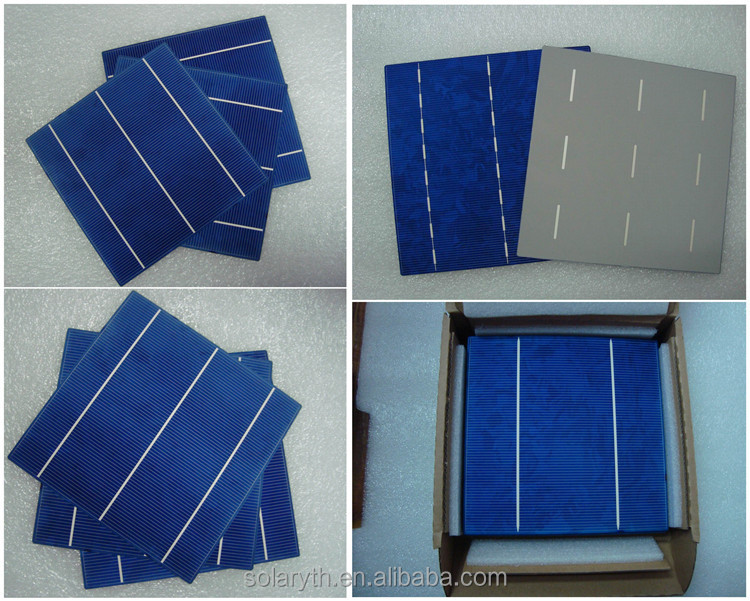 6x6 inch best monocrystalline solar cell price for solar panel/photovoltaic solar cells for sale