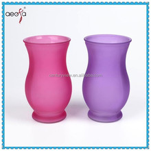 wholesale purple glass vases cheap