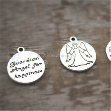 angel Charms Antique Tibetan silver Tone guardian angel for happiness Charms Pendant 20x18mm
