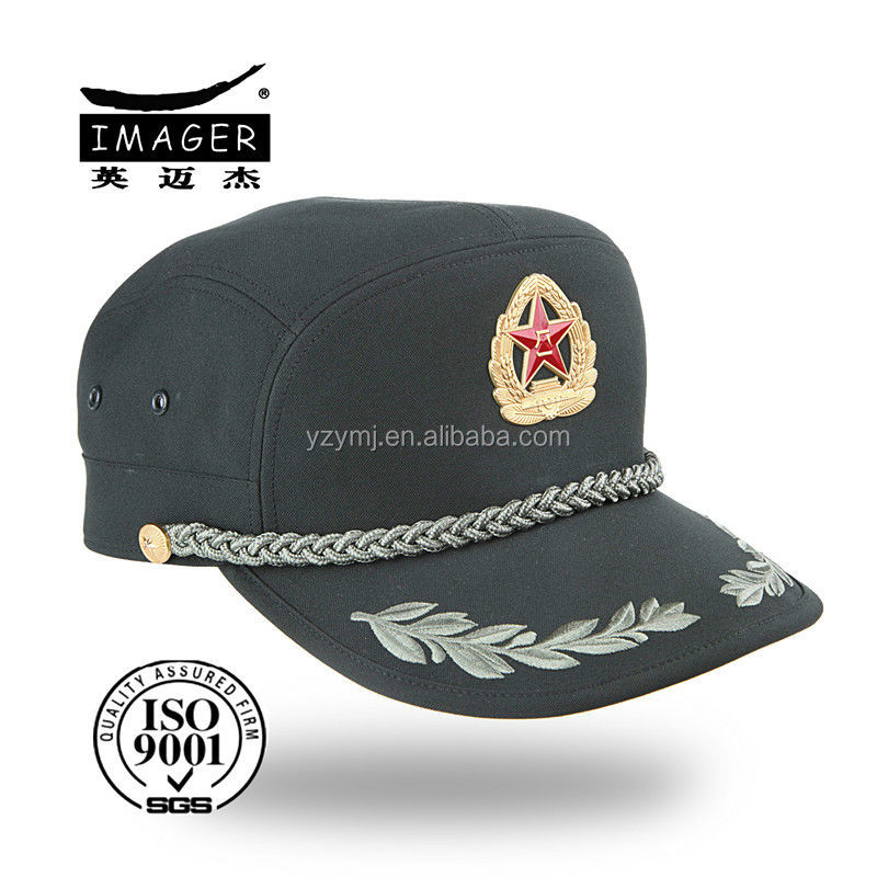 Chinese Style Olive Green Military Custom Snapback Hat