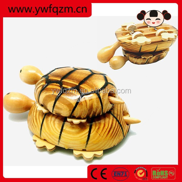 Hot Sell Wooden Animal Tortoise Crafts