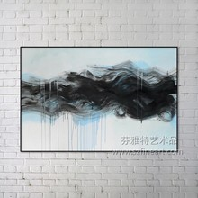 Framed art abstract ink stylish nice design painting from Shenzhen dafen