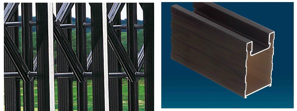 Industrial Retractable Gates : Philippines aluminum retractable gates and fences