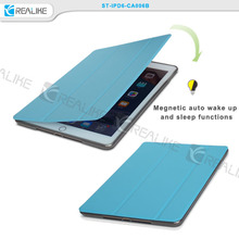 New arrival smart cover case for ipad air 2, pu leather case for ipad air 2 tablet