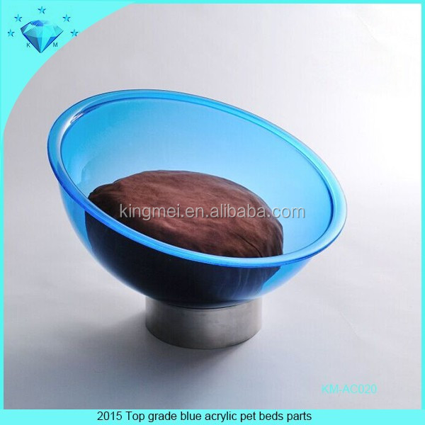 2015 Top grade blue acrylic pet beds parts