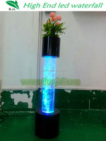 LED lighting plastic aquariums column fish tank decorations