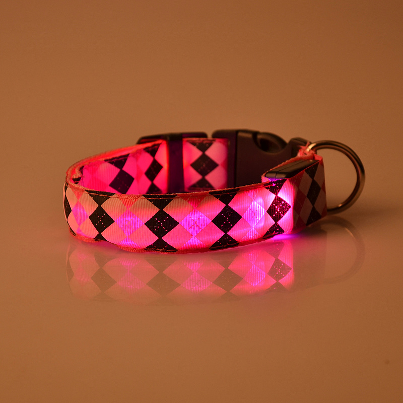 pet grooming products led nylon elastic dog collar