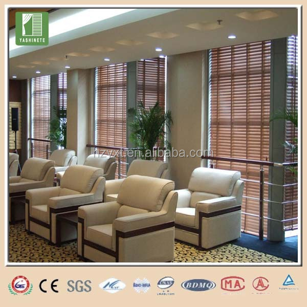 Bamboo mat wood blinds for window