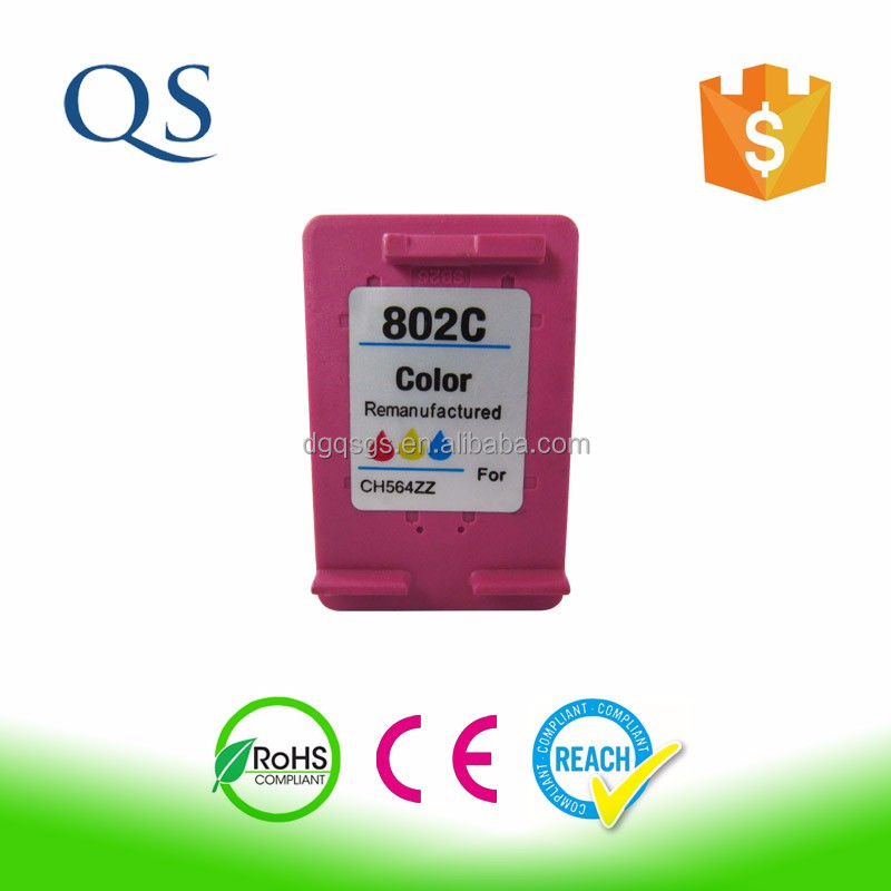 CH561ZZ / CH562ZZ recycled ink cartridge for hp 802 use for HP Deskjet 1000 1050 1510 printer
