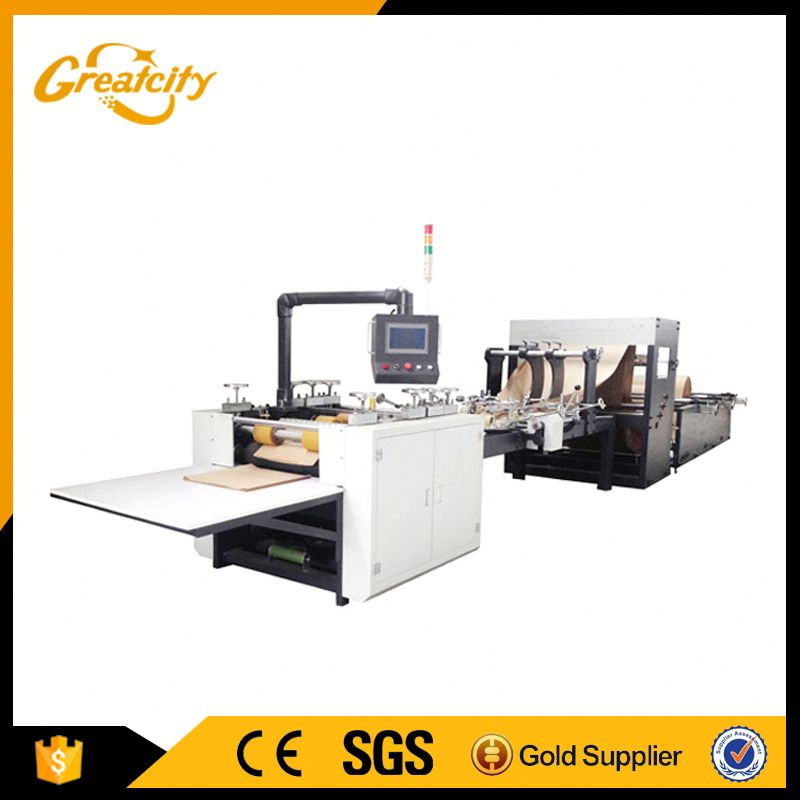 Production line of cement kraft paper bag making machine