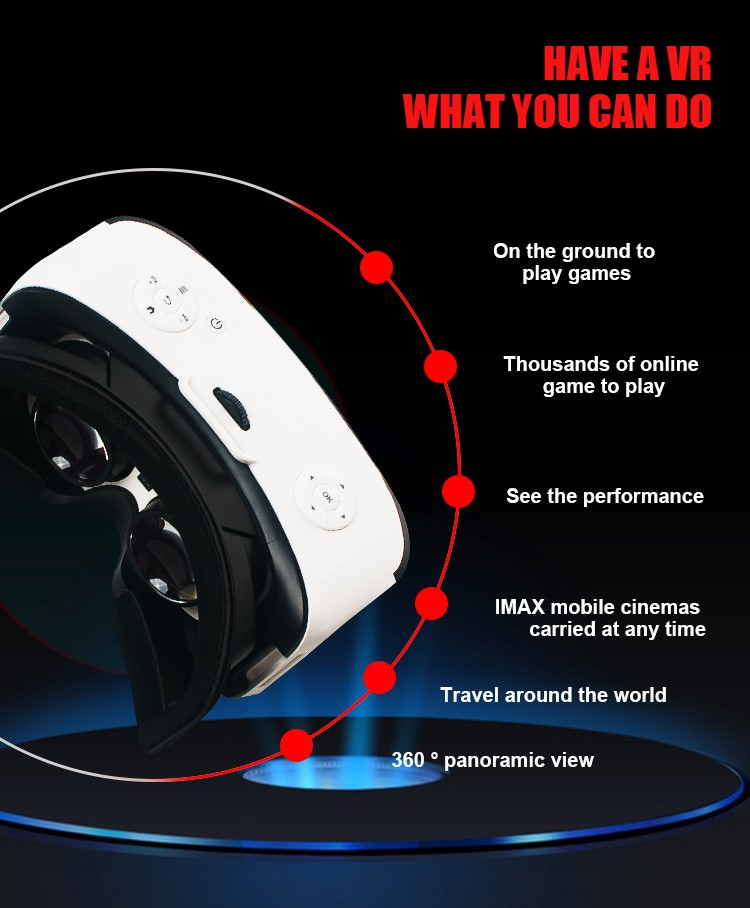 Vr Virtual Reality built in speaker & screen 360 vr camera for 3d Movies and Games Vr Box