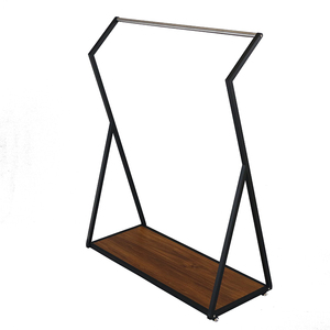 Metal Wooden Display Stand Kids Clothes Rack