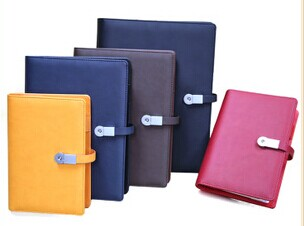 leather cover journals with usb flash drive