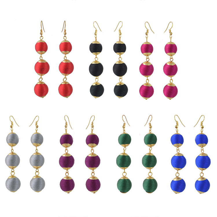 silk ball <strong>earrings</strong>,fashion <strong>earring</strong> designs new model <strong>earrings</strong>,pom pom <strong>earrings</strong>