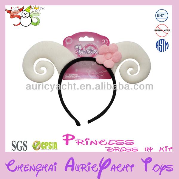 sheep goat lamb ear fluffy headband easter halloween costume,girls plastic headbands ZH0911621