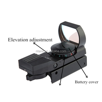 Spike New Holographic Red & Green Dot Open Reflex Sight Black 4 Type Reticle for Riflescope, Pistol