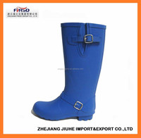 Fashion solid color rubber rain boots for ladies