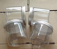 wholesale plastic jar transparent 250ml with aluminium cap
