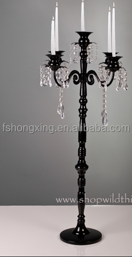High Big Black Wedding Table Candelabra Centerpiece For And Party Decoration