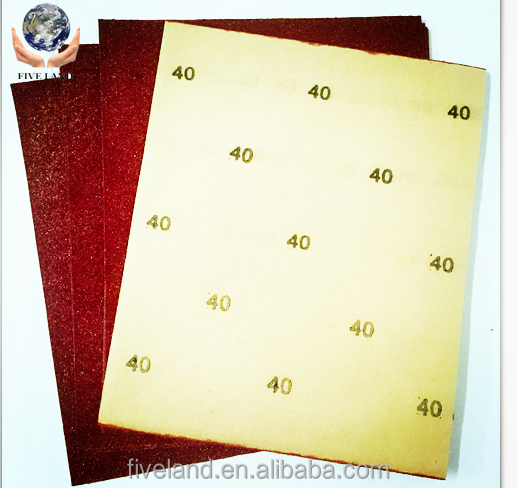 old type dry glass beads sandpaper sheet/sheets by hand