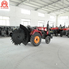 Long life High quality mini farm tractor grader disc trencher sale