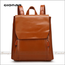 Wholesale PU Leather Simple Hot Shot School Men Backpack Bag