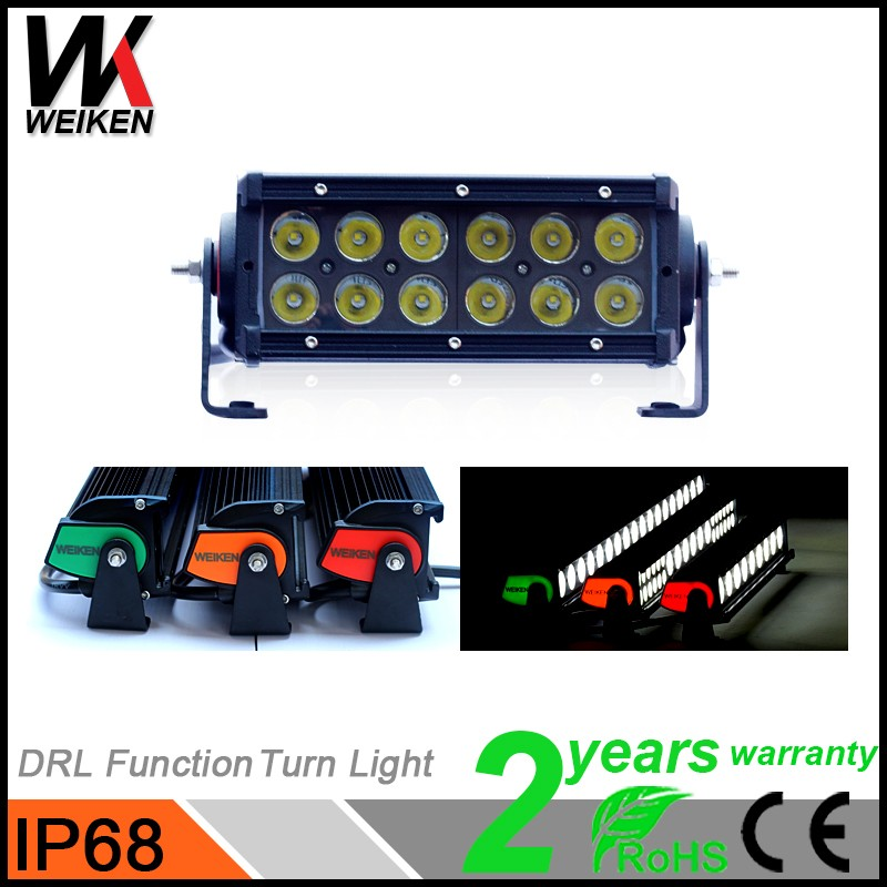 Driving Car 36W LED Rowing Light Bar Amper Auto LED Head Light Colorful Protective