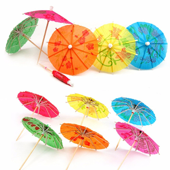 Disposable Colorful Umbrella Toothpick 144pcs/package